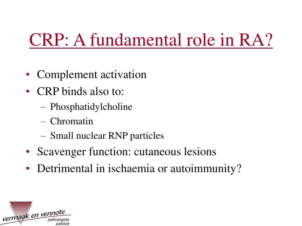CRP: A fundamental role in RA?