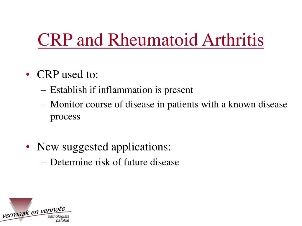 CRP and Rheumatoid Arthritis