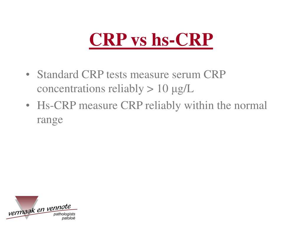 CRP vs hs-CRP