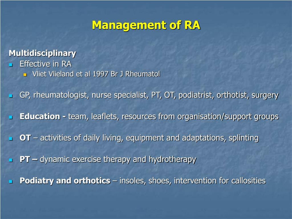 Management of RA