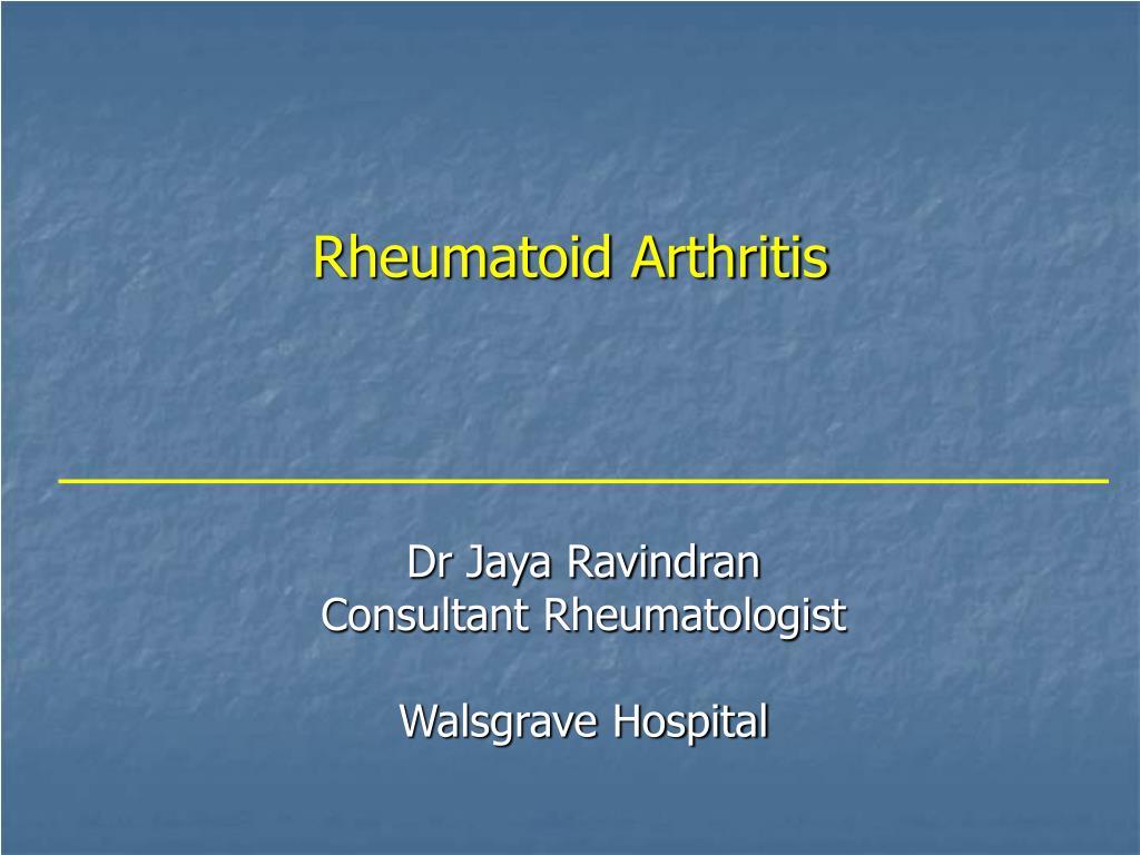 rheumatoid arthritis l.