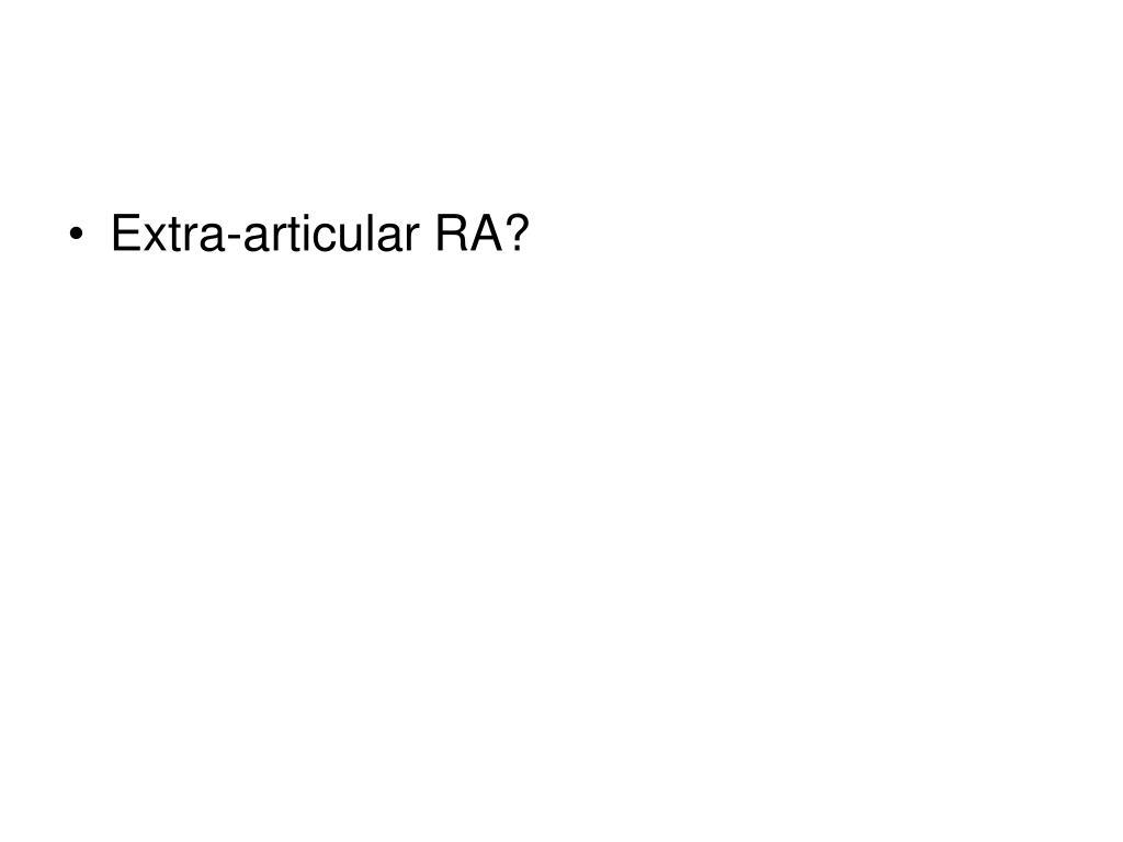 Extra-articular RA?