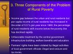 3 three components of the problem of rural poverty