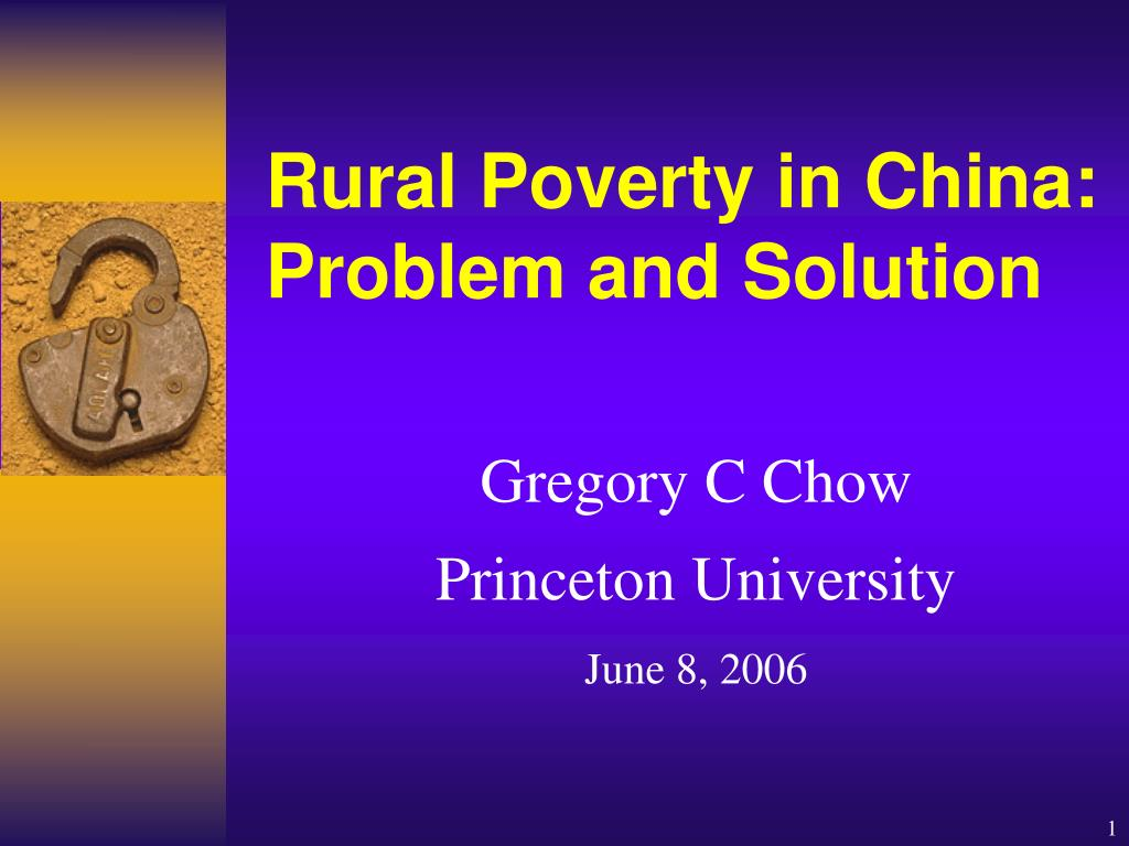 rural poverty in china problem and solution l.