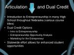 articulation and dual credit