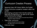 curriculum creation process