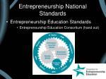 entrepreneurship national standards