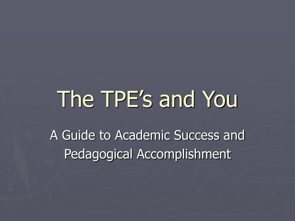 the tpe s and you l.