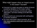 what might happen when an impact occurs in the ocean tsunami