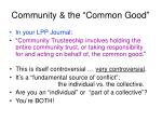 community the common good