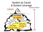 system as cause system leverage