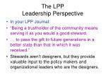 the lpp leadership perspective