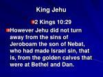 king jehu