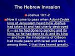 the hebrew invasion