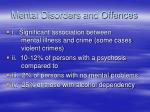 mental disorders and offences