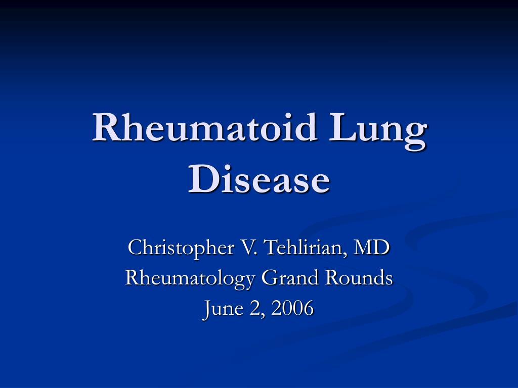 rheumatoid lung disease l.