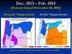 dec 2013 feb 2014 forecast issued november 20 2013