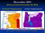 december 2013 forecast issued november 20 2013
