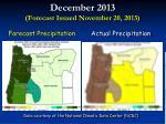 december 2013 forecast issued november 20 20136