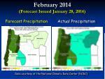february 2014 forecast issued january 28 201412
