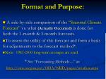 format and purpose