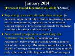 january 2014 forecast issued december 30 2013 actual