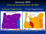 january 2014 forecast issued december 30 2013