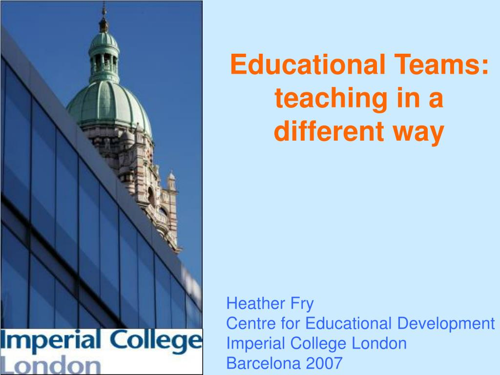 educational teams teaching in a different way l.