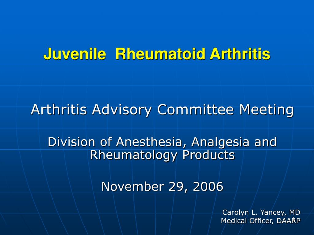 juvenile rheumatoid arthritis l.