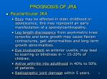 prognosis of jra