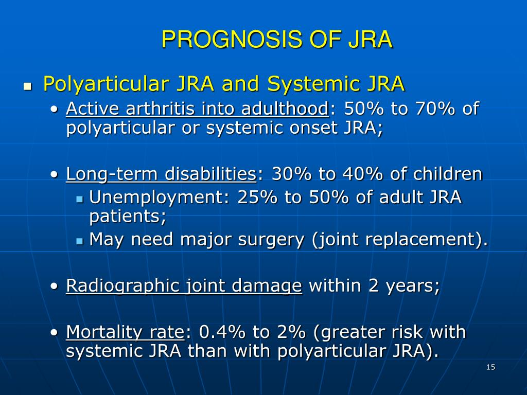 PROGNOSIS OF JRA