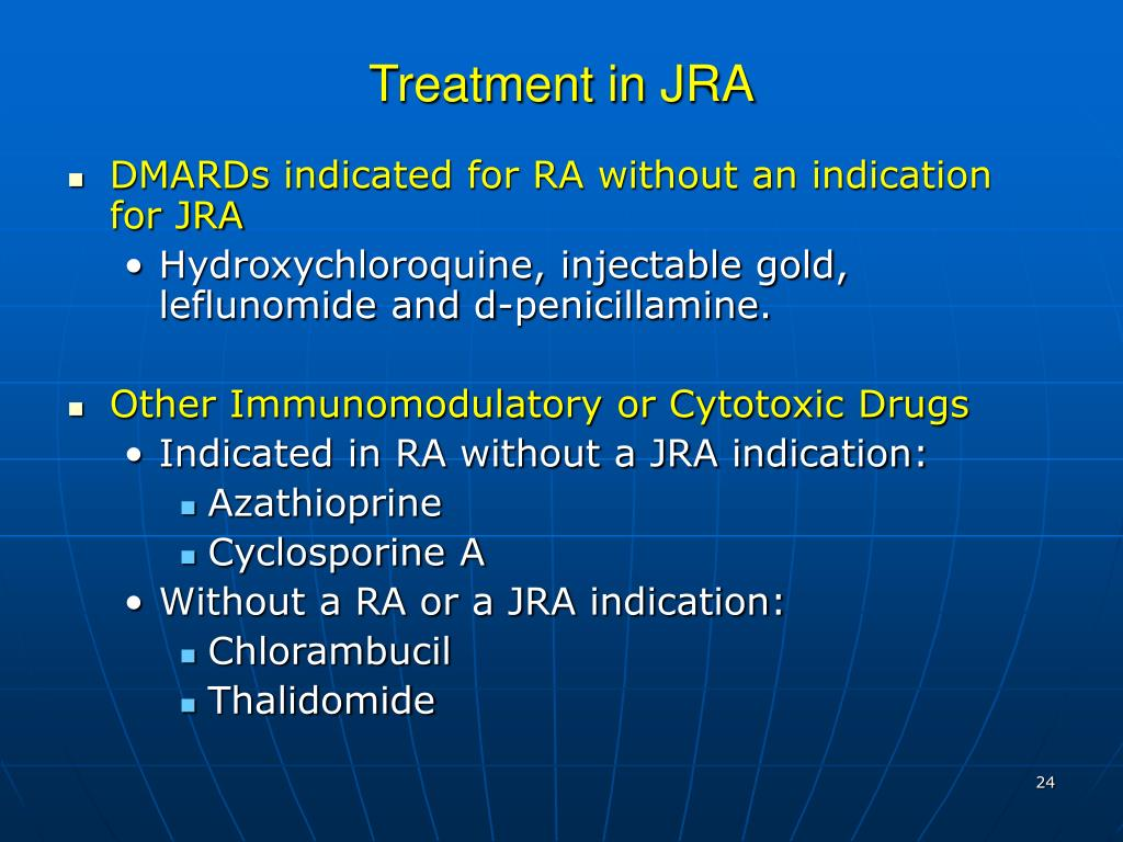 Treatment in JRA