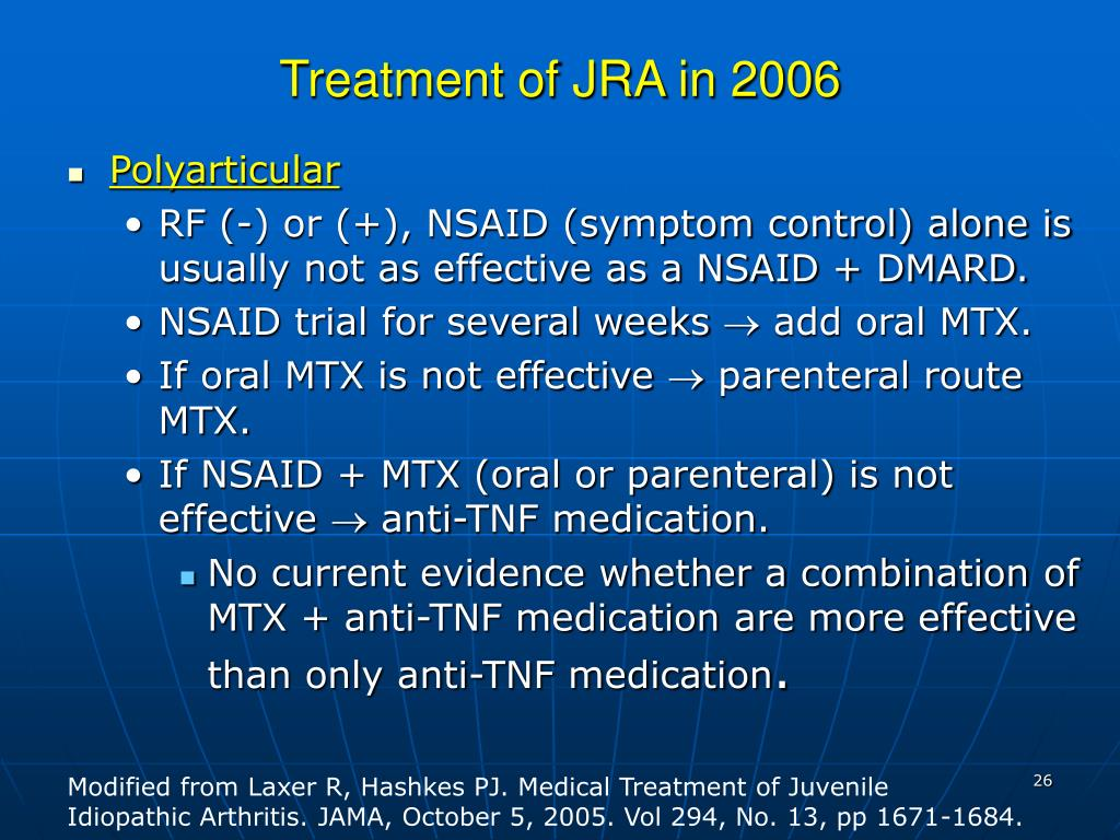Treatment of JRA in 2006
