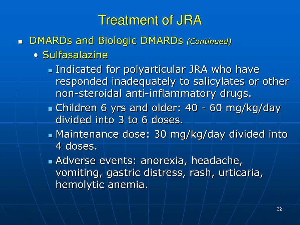 Treatment of JRA