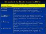 elements of the quality control in isqc 17