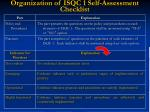 organization of isqc 1 self assessment checklist
