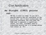 cost justification