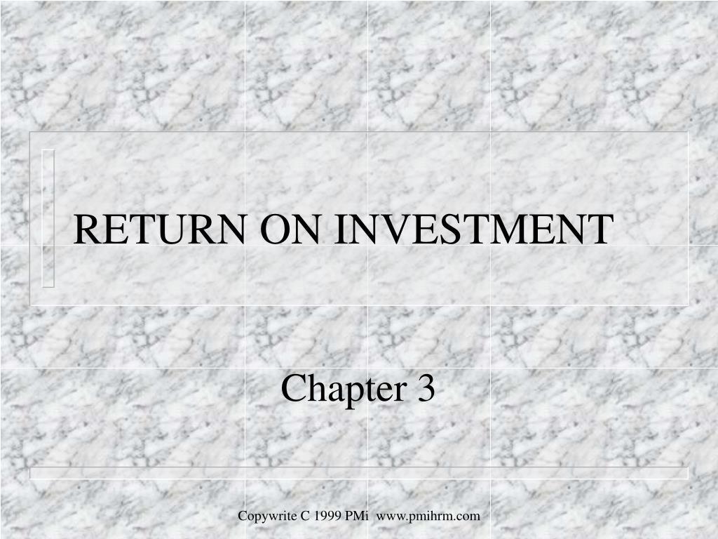 return on investment l.