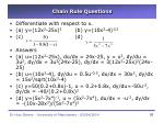 chain rule questions