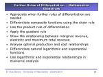 further rules of differentiation mathematics objectives