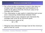 minimum average cost