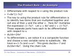 the product rule an example