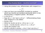 the product rule another example