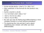 the product rule example
