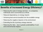 benefits of increased energy efficiency