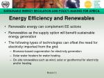 energy efficiency and renewables