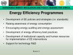 energy efficiency programmes