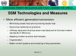 ssm technologies and measures