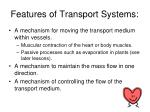 features of transport systems1
