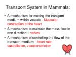 transport system in mammals1